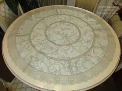 Скатерть круглая льняная  д. 90 см.